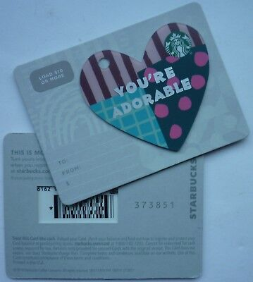 STARBUCKS CARD 2019 HEART YOU'RE ADORABLE 2018 #6162 DIE CUT w/ ASTERISK * MARK