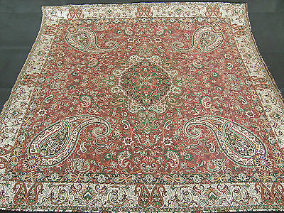 Persian Rug Style Woven Tapestry Authentic Art Silk Exotic Termeh Tablecloth