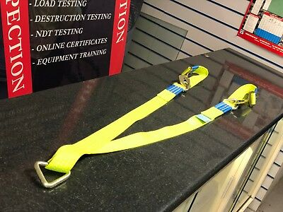 Hi-Vis Winch Tow Recovery Trailer Strap