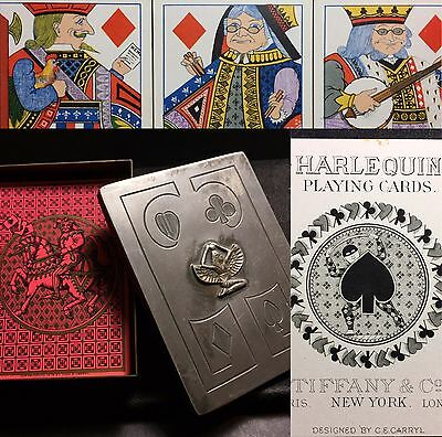 1879 Authentic Tiffany & Co. U.S. Antique Playing Cards & Benedict Egyptian Box