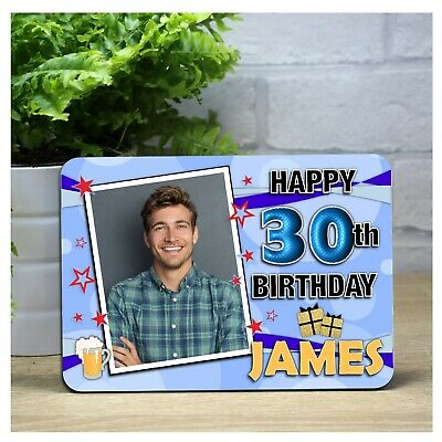 Personalised Star of Fame Birthday Wooden Photo Panel Frame N59 Any Age Text