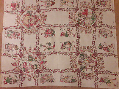 Antique Dean's Ragbook Company printed cotton nursery sheets