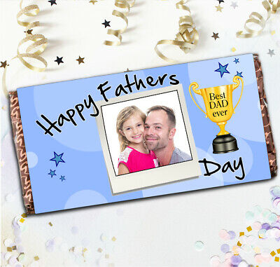 Personalised Fathers Day Galaxy Chocolate Bar Wrapper Best Super Dad Gift N10