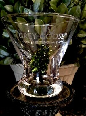 GREY GOOSE World's Best Tasting Vodka Stemless Cocktail Martini Glasses (2) NEW!