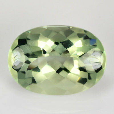 13.50Cts Natural Ravishing Oval 3D Cut (Prasiolite) Green Amethyst Collection