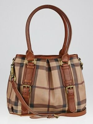 881ce91f5f66 BURBERRY SMOKED CHECK Northfield Tote Bag with Dust bag -  459.99 ...