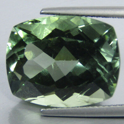 17.04Cts Dazzling Natural Green Amethyst(prasiolite)Cushion Loose Gem Ref VDO