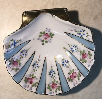 Vintage Ardalt Porcelain Flower Shell Trinket/Soap Dish BLUE Occupied Japan