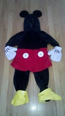Disney Store Mickey Mouse Velour Plush Costume 6-12 Months