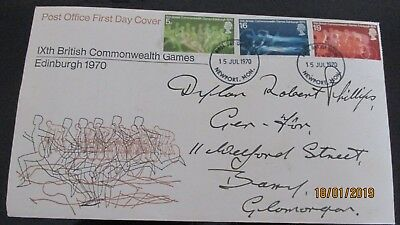 Post Office First  Day Cover - IXth British Commonwealth Games  (1970)