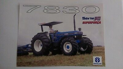 New Holland 7830 tractor brochure Ford Brazil