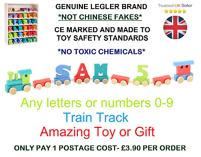 Colour Wooden Name Train Letters Personalised Train Christening Gift | New Baby