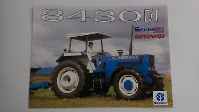 New Holland 8430 DT tractor brochure Ford Brazil