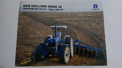 New Holland 7630 7630 TR tractor brochure Ford Brazil