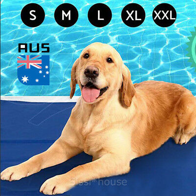 FAST POST Pet Cool Gel Mat Dog Cat Bed Non-Toxic Cooling Dog Summer Pad 8 Sizes