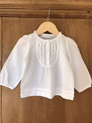 The Little White Company Gorls White Top 12-18 Months