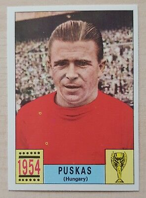 Panini Mexico 70 Puskas – Hungary - World Cup 1970 - Mint - Unused - Green Back
