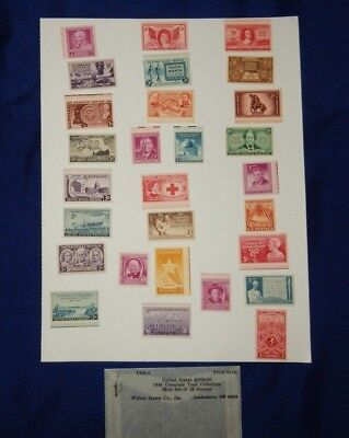 U.s. Postage Stamps 1948 Complete Year Collection Mint 28 Stamps Never Hinged