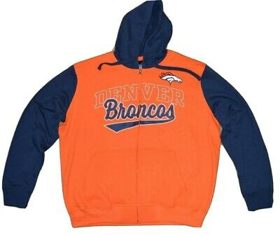 New DENVER BRONCOS OFFICIAL Nfl Giii Contrast Hoodie & T Shirt Combo  hot sale