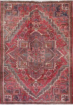 Old Antique Collectable Handmade Geometric Heriz Persian Oriental Area Rug 6x9