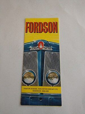 Fordson Super Major tractor brochure 1960