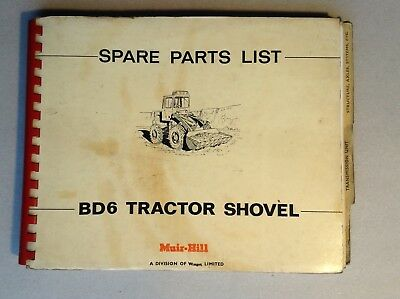 Muir-Hill Bd6 Tractor Shovel Spare Parts Manual, Used.
