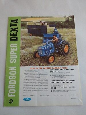Fordson Super Dexta tractor brochure 1963 Ford New Holland