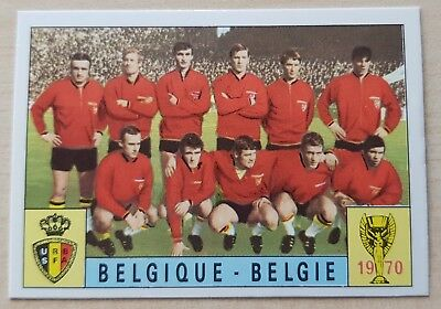 Panini Mexico 70 Belgique Belgie - World Cup 1970 - Mint - Unused - Green Back