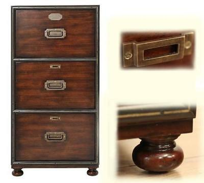 Traditional Mahogany 3 Drawer Filing Cabinet, Office File, Antique Reproduction
