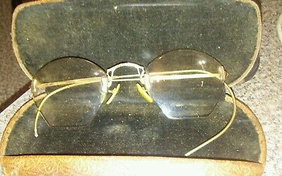 VTG Antique Shuron Rimless Eyeglasses