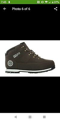 Henleys Mens Oakland Lace Up Casual brown boots, brand new