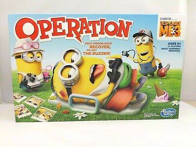 Despicable Me 3 Edition Operation Family Board Game Hasbro Childrens Young Kids