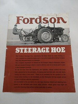 Fordson E27N Major tractor implement Steerage Hoe Ford New Holland