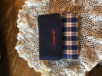 Longaberger Navy and Red Check Wallet