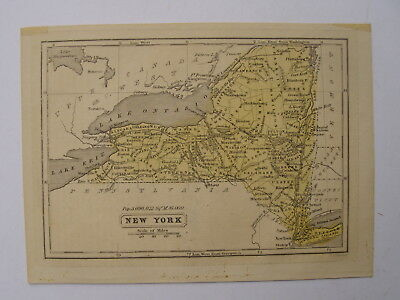 Map. New York State. Possibly by Lincoln / Edmonds. Engraved G Boynton. c1855