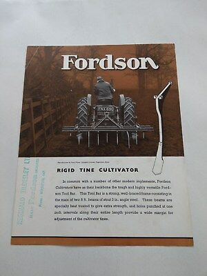 Fordson E27N Major tractor implement Rigid Tine Cultivator Ford New Holland