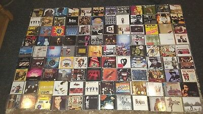 Joblot/collection Of 252 Rock Cds David Bowie,pink Floyd,beatles,led Zeppelin