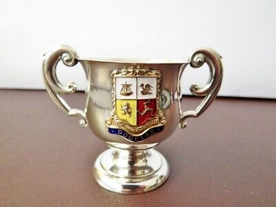 Antique Silver Plate Crested Ware Trophy Cup - Trophy Cup With Crest Of Douglas