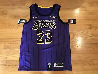 8decfb96b92 Lebron James  23 City Edition Nike Lakers Swingman Jersey Men s Large (48)  NWT