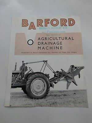 Fordson E27N Major tractor implement Barford drainage Ford New Holland