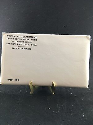 1969 P and D US Mint Uncirculated Coin Set - Sealed Envelope