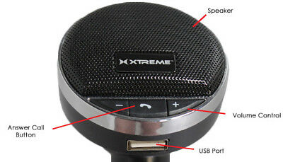 Bluetooth Handfree transmitter for Cell Phone Car Speaker System Audio