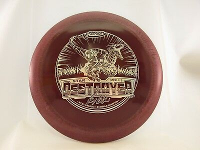 LE INNOVA STAR DESTROYER RICKY WYSOCKI 2X TOUR SERIES Maroon w/Silver 166g -New