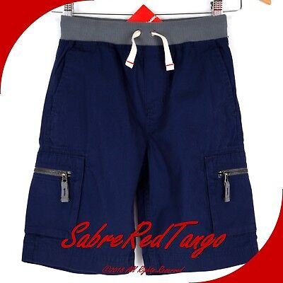 Nwt Hanna Andersson Canvas Epic Cargo Shorts Navy 160 14 16