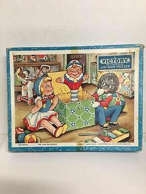 "Vintage Wooden Hayter & Co. Black Americana Puzzle ""The Jack-In-The Box"" NIB"