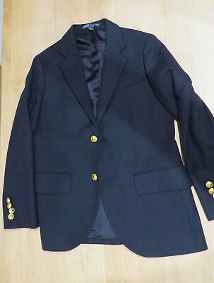 Beautiful Designer Polo Ralph Lauren Boys Navy Blue Blazer (size aged 10 145/68)