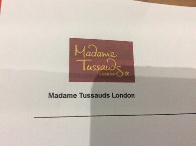 madame tussauds london Tickets x 2 - FEBRUARY 13th 2019 at 10.00am