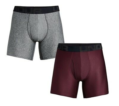 Under Armour UA TECH™ BoxerJock® 2-Pack 6-inch Maroon Jet Gray Boxer Briefs