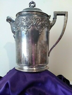 Forbes Silver Co Quadruple 158 Silver Plate Pitcher Tea Pot