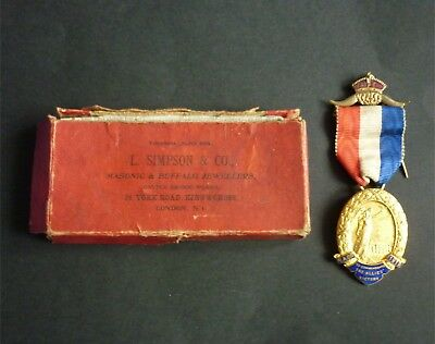 Raob 1919 Allies Victory Commemorative Medal Boxed